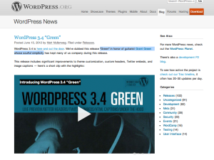 Wordpress Green 3.4 is here
