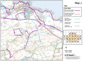 East Lothian Core Paths Map
