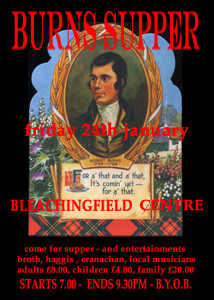 Burns supper poster