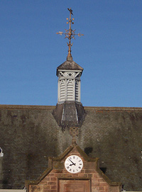 Trevelyan Hall clock in the centre of Wester Pencaitland has been repaired with support from the Community Council.
