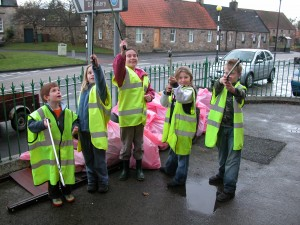 A previous clean up drive in the village - please come along on the 7th and help polish up Pencaitland.
