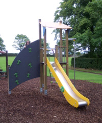 A play chute has been built in the village playground, adding to the existing amenity.