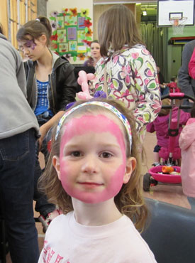 Face-painting at the Pencaitland PTA Spring Fayre last year...