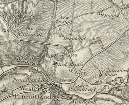Boggs Farm - top right - from 1856. This work uses historical material copyright Great Britain Historical GIS Project and the University of Portsmouth