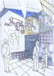 Athelstaneford Flag Heritage Centre Artist Impression