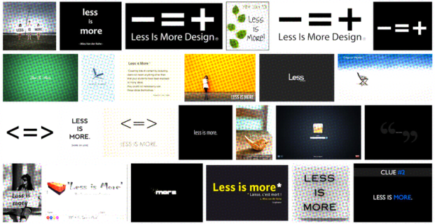 Less is more – more is less
